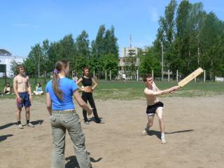 Соревнование по мини-лапте среди школьников