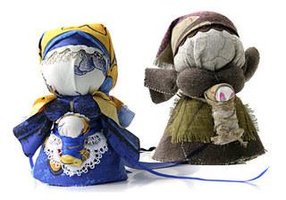 Выставка русских народных кукол