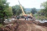 Работы по восстановлению переправы начались рядом с селом Кроуновка