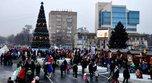 Тысячи жителей Уссурийска пришли на праздничное открытие ледового городка
