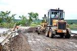 Начались восстановительные работы на временной переправе через реку около села Кроуновка