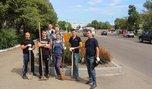 В Уссурийске ЭКОдесант сотрудников транспортной полиции окультурил городские клумбы