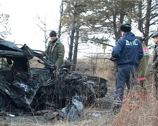 Два человека сгорели в аварии при столкновении с КамАЗом