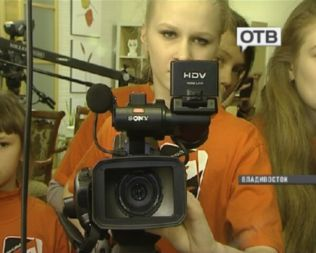 Юные тележурналисты из Уссурийска посетили ОТВ с экскурсией