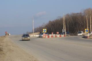 Просадка грунта на трассе М60 под Уссурийском устранена