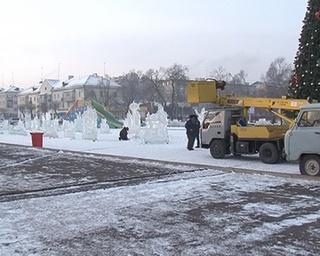 Ледовый городок переедет в городской парк
