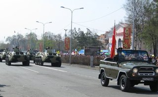 Парад победы прошел в Уссурийске