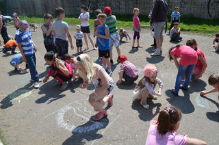 Праздник для детей округа ТОС «Западно-центральный» состоялся во дворе дома по ул. Ленинградская