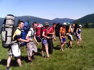 Юные уссурийцы принимают участие в первенстве России по спортивному туризму