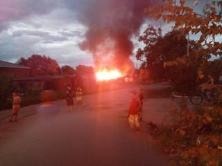 Гараж горел в Уссурийске