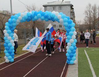 Всероссийская акция « Спортивный лонгмоб « Сочи 2014»» прошла в Уссурийске