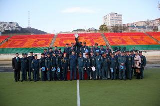 Пожарные из Уссурийска заняли 2 место на соревнованиях по пожарному биатлону