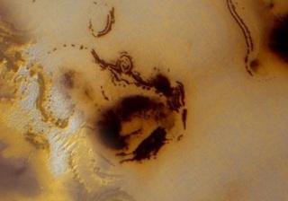 На Марсе найден гигантский «смайл»