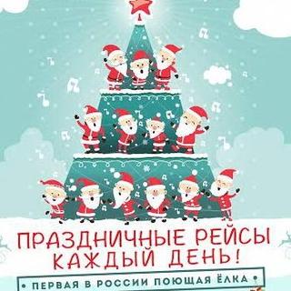 Хор Дедов Морозов заберется на елку в Москве