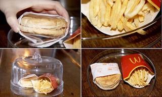 Шестилетний бургер и картофель фри из McDonald'