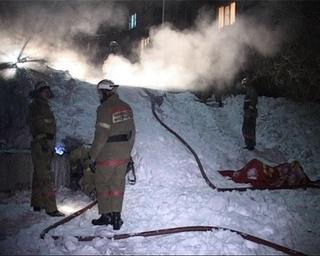 Пожар в колодце теплотрассы