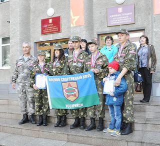 Уссурийские ребята достойно выступили на сборе военно-спортивных организаций в Казани