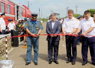 Современный пожарный поезд будет нести службу на станции Уссурийск