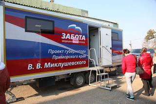 Автопоезд «Забота» переезжает в Новоникольск