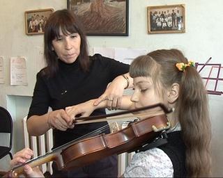 Отчетный концерт юных скрипачей