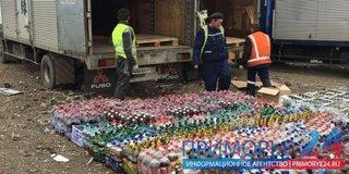 Уссурийцы раздавили шесть грузовиков пива