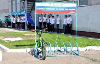 В школе №25 появилась новая велопарковка