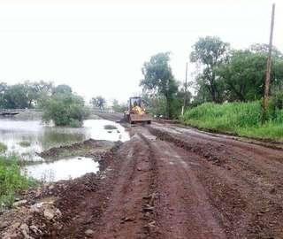 Переправа через реку около села Кроуновка восстановлена