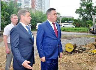 Губернатор Приморского края Владимир Миклушевский находится в Уссурийске с рабочим визитом