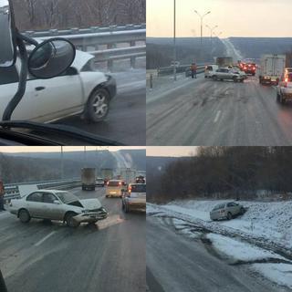 Ледяная трасса испытала приморских водителей на прочность