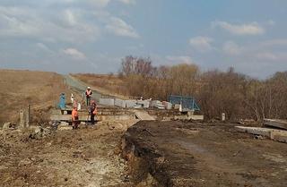 Примавтодор досрочно восстановил размытые подъезды к мосту в селе Улитовка