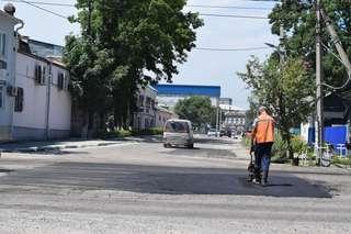 В Уссурийске на улице Лермонтова, Артиллерийская, Щорса и Пушкина ведутся дорожные работы