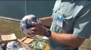 Уссурийские таможенники задержали очередную партию контрафактной продукции с символикой FIFA