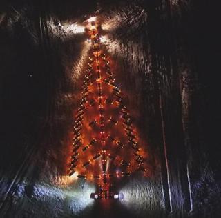 В Уссурийске зажгли новогоднюю ёлку из автомобилей