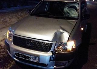 В Уссурийске водитель иномарки жестко сбил женщину пешехода