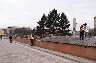 Подготовка к сезону фонтанов началась в Уссурийске