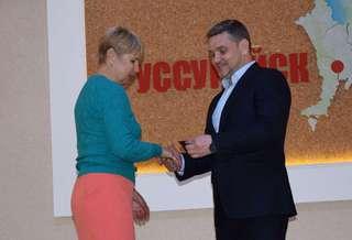В администрации Уссурийска состоялась торжественная церемония вручения знаков отличия ГТО