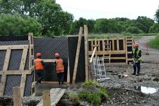 Опоры для нового моста в поселке Тимирязевском построены