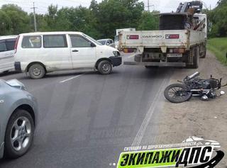 В Уссурийске мотоциклист не по своей вине пострадал в ДТП