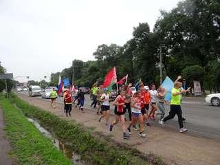 Международная факельная эстафета «Бег Мира» прошла в Уссурийске