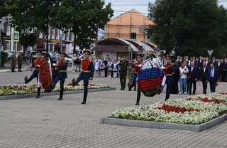 Возложение венков и цветов в память об окончании Второй мировой войны состоялось в Уссурийске