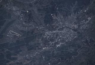 Уссурийск и аэродром Воздвиженка из космоса