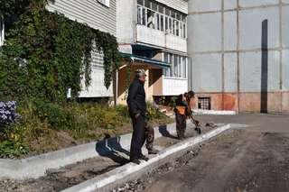 В Уссурийске активно идет ремонт дворов