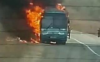 В Приморье сгорел рейсовый автобус