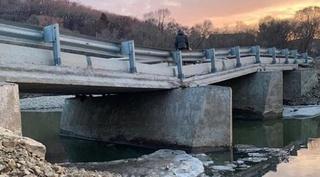 Под Уссурийском «надломился» автомобильный мост