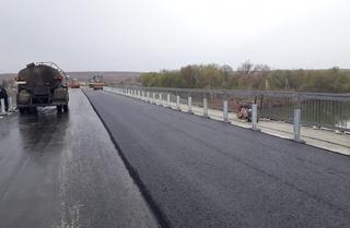 Заасфальтирован новый мост в село Кроуновка