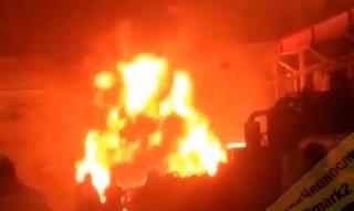 На крупнейшем заводе Уссурийска произошел сильный пожар