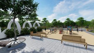 На улице Ленинградской строят новый сквер