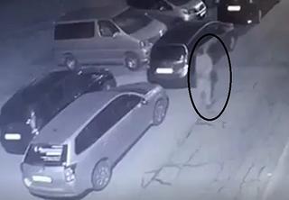 В Уссурийске ночной гость прямо под камерой «расчехлил» Lexus