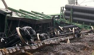 Семь железнодорожных вагонов сошли в Приморье с рельсов