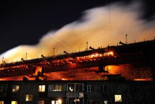 Ущерб от пожара на мосту через «Золотой Рог» оценен в 14 миллионов рублей